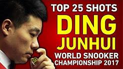 TOP 25 SNOOKER SHOTS of DING JUNHUI 丁俊暉 | World Championship 2017