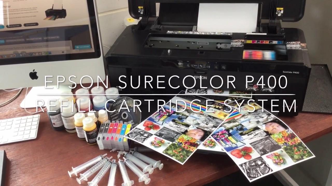 Refillable Cartridges for Epson SureColor SC-P400   Refill