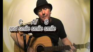 My Old Man Medley - world war songs - easy chords guitar lesson with on-screen chords & Lyrics