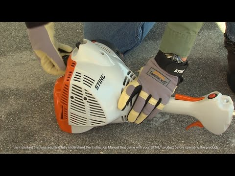 STIHL FS 50 C-E Trimmer - How to Start