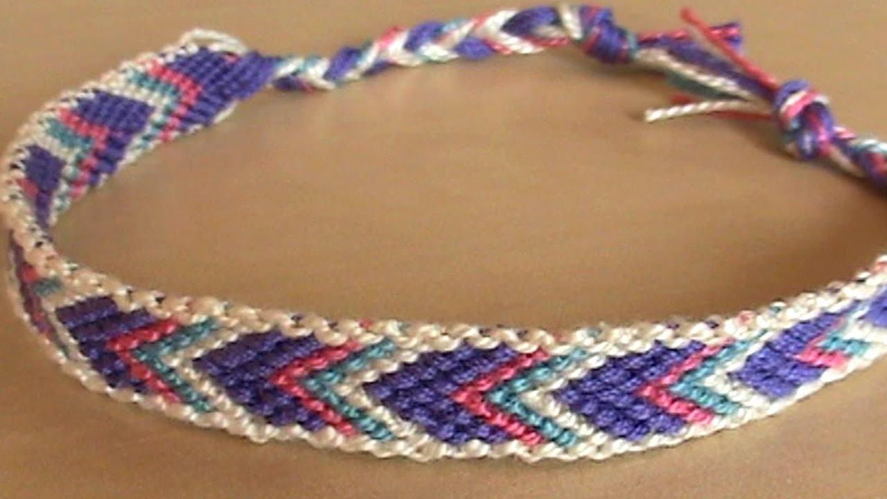 [TUTO] Bracelet brésilien chevron avec bordure (débutant) , YouTube