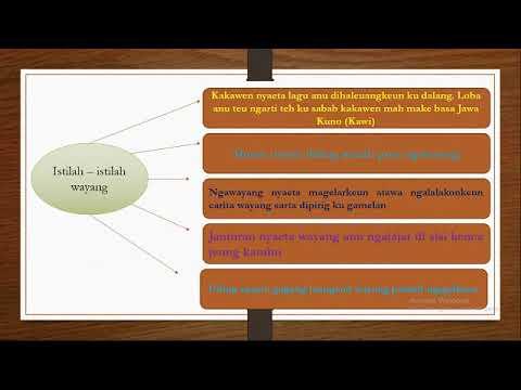 Materi Carita Wayang Kelas 12 Bahasa Sunda Youtube