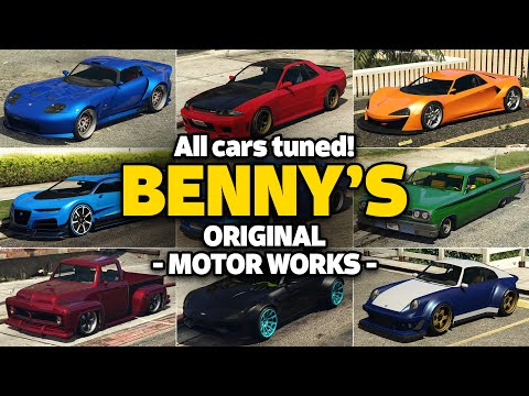 GTA 5 Online - ALL BENNY's CAR ON ONE PLACE [UPGRADE PRICE, LIVERIES, CUSTOMIZE, DLC & MORE]