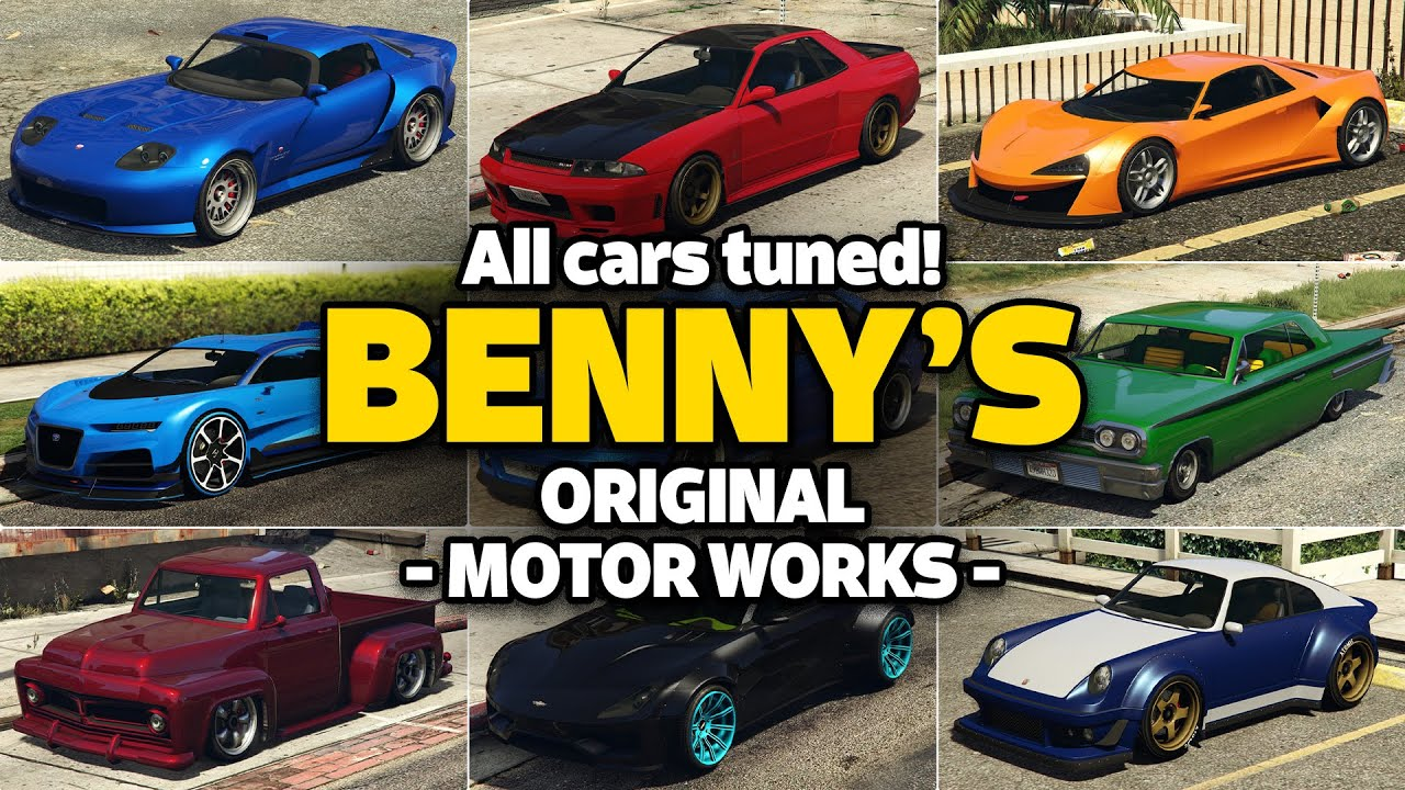 GTA 5 Online - ALL BENNY\'s CAR ON ONE PLACE [UPGRADE PRICE, LIVERIES ...