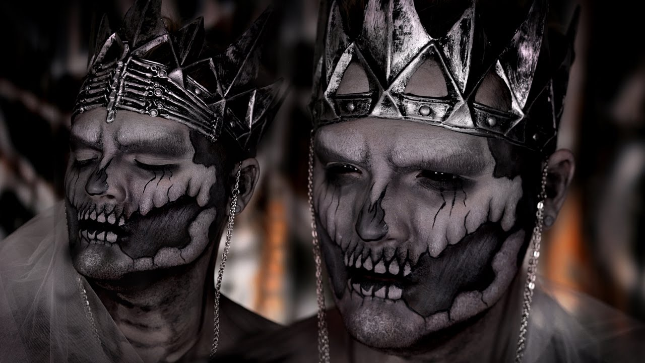 & Undead Wraith King Halloween Makeup Tutorial ft Jordan Hanz! - YouTube