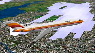 Microsoft Flight Simulator 98 | San Francisco to Los Angeles | Pacific Southwest Airlines 727-200