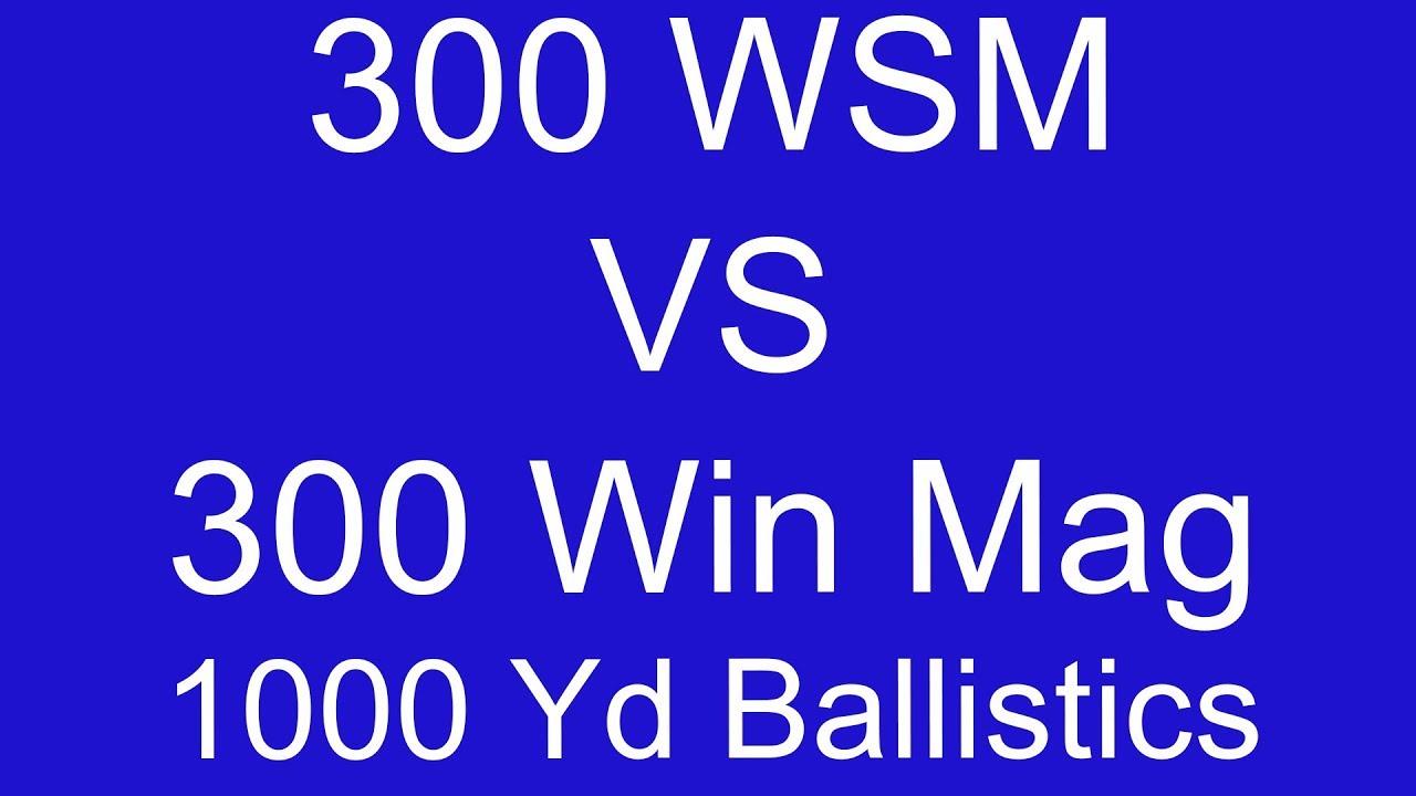 300 Wsm Vs Win Mag 1000 Yard Ballistic Comparison Part 1