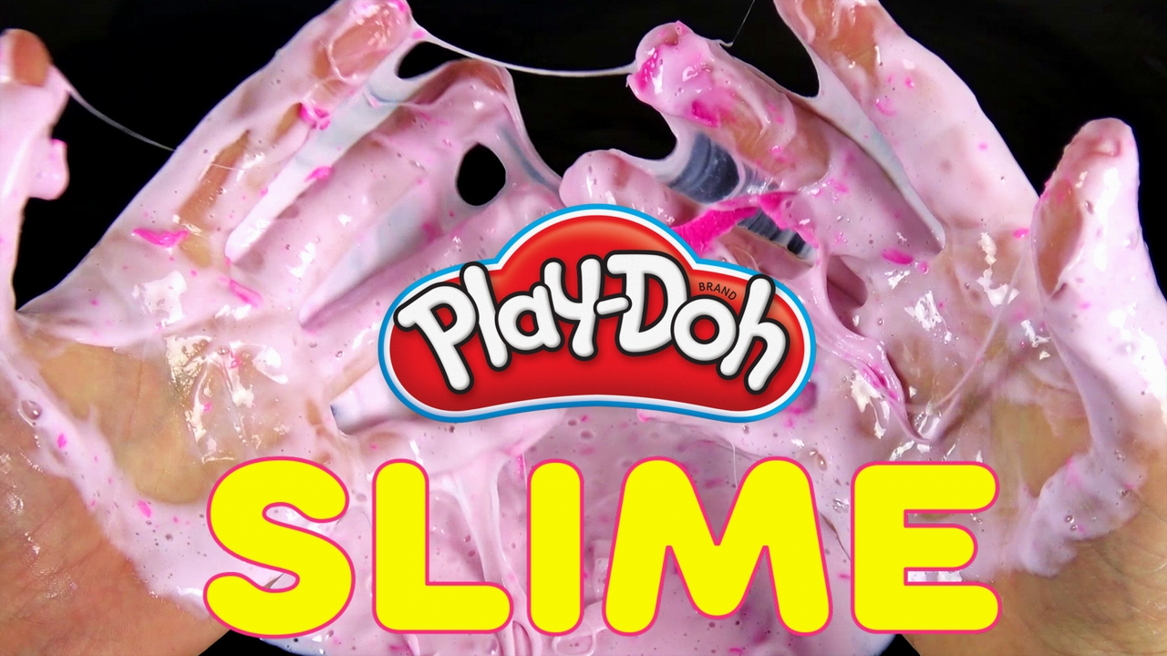 What Happens If You Mix Slime And Play Doh  How To Make Fluffy Slime With  Detergent And Glue