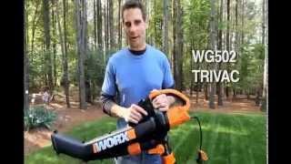 Worx Trivac Blower-Mulcher-Vacuum w/Metal Impeller
