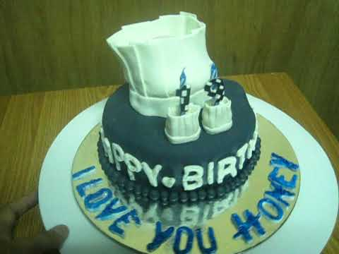 Birthday Cake Design For Chef : Chef Hat Cake for Bianca s BF - YouTube