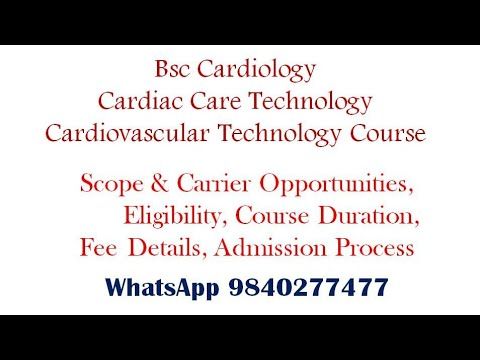 Bsc Cardiology Cardiac Cardiovascular Technology Course Scope Details Tamil   After +2 Science Group #cardiology