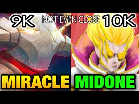 Miracle- [Sven] VS MidOne [Invoker] 9K VS 10K Solo Ranked Match Dota 2