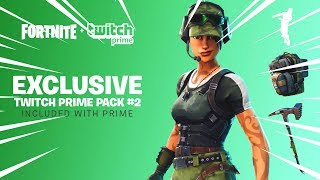 HOW TO THE NEW EXCLUSIVE SKIN TWITCH PRIME PACK #2 FORTNITE BATTLE ROYALE