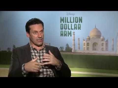 "Jon Hamm talks MLB, ""Million Dollar Arm"" on ESPN"