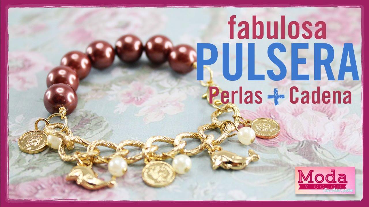 2476f63de38f Como hacer pulsera perla dijes con Adri Muñoz Kit 23183