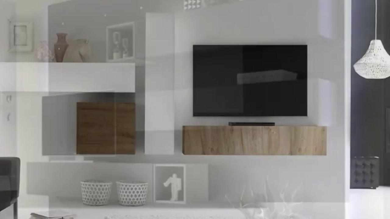 Pareti attrezzate moderne zenzeroshop youtube for Pareti moderne