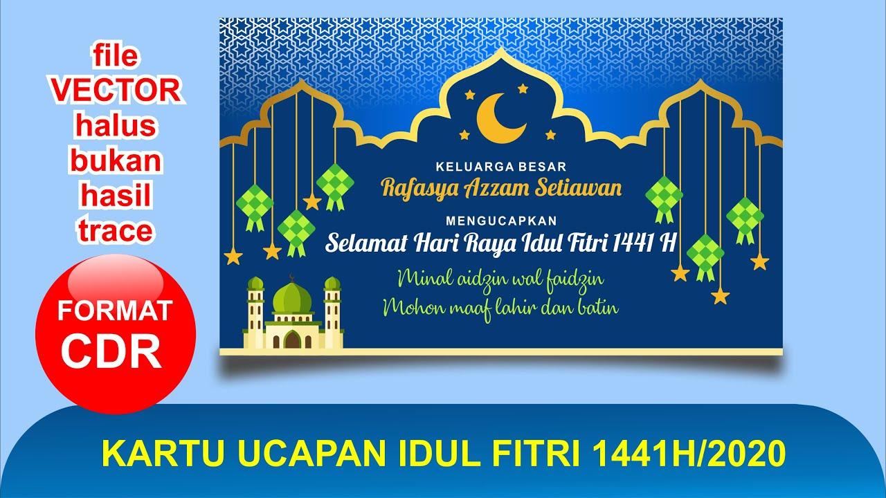Ucapan Selamat Hari Raya Idul Fitri Tahun 2020 Cdr ...