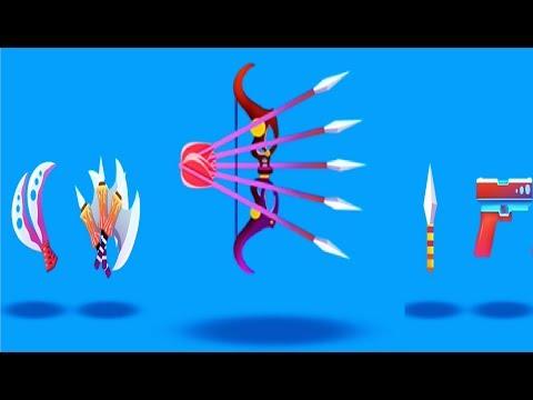 Зомби Раш ВСЕ ОРУЖИЕ игра мультик  Лучшее оружие в игре Zombie Rush