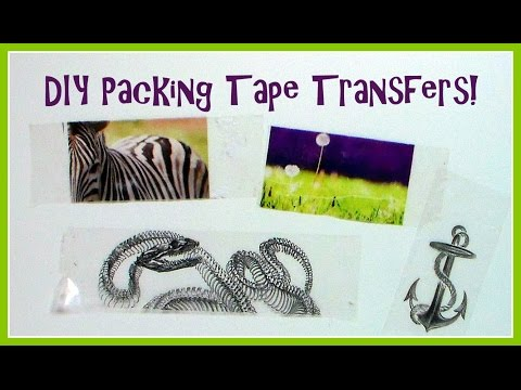 DIY Packaging (packing) Tape Transfer Tutorial (non-reversed Image)