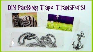 DIY Packaging (packing) Tape Transfer Tutorial (non-reversed image)