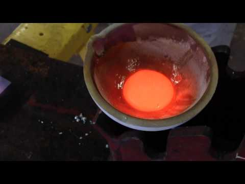 Melting Gold Into Bars Part 1: Primordial Soup Of Molten Met