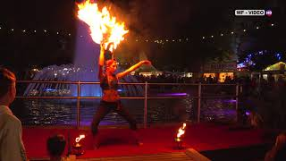Feuershow beim Wachauer Volksfest 2021