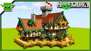 Minecraft Mansion Tutorial (EASY 5X5 BUILDING SYSTEM)