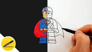 Как Нарисовать Лего Супермена | Рисуем персонажей Лего Марвел | Картинки своими руками