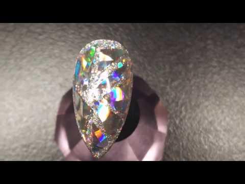 How To | Diamond Nails | Gel Polish | Nails Art Tutorial  | Holographic Nails
