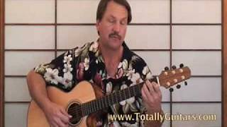 Mini Lesson Who Knows Where The Time Goes , Eva Cassidy acoustic guitar lesson part 1
