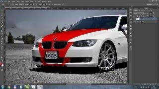 уроки фотошопа (тюнинг BMW) ,  Photoshop Lessons (tuning BMW)