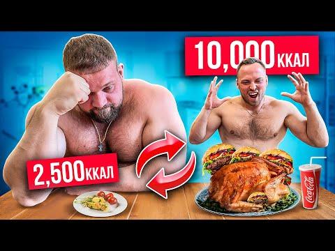 Я и САМЫЙ СИЛЬНЫЙ ЧЕЛОВЕК В МИРЕ поменялись ПИТАНИЕМ! 10000 калорий