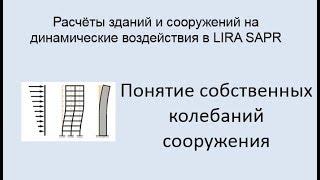 Расчёт зданий и сооружений на динамические воздействия в Lira Sapr Урок 1