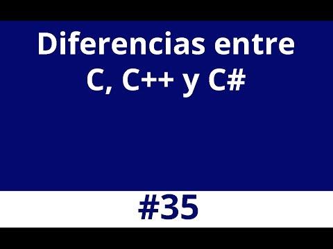 Diferencias entre C, C++ y C#