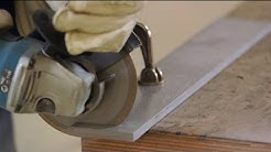 How to cut off with a diamond saw on an angle grinder ?