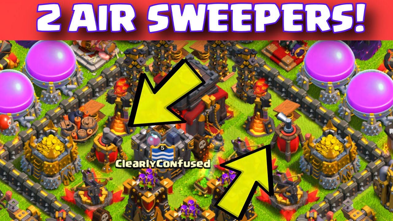 Farming base with two 2 air sweepers titan defense youtube
