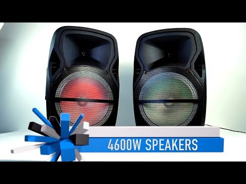 QFX 4600W Large Speakers - 12-13 Hour Battery Life!
