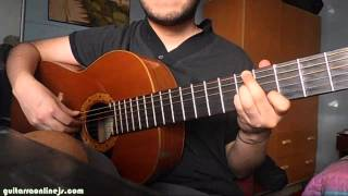 autumn leaves guitarra acordes jazz- tonica 5 y 6 cuerda Gm -part1