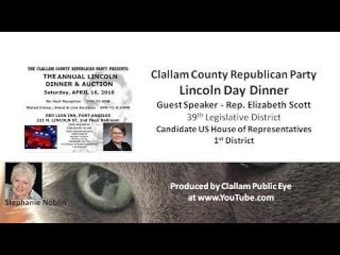 Clallam County Republican Party 2017 Lincoln Day Dinner Port Angeles WA