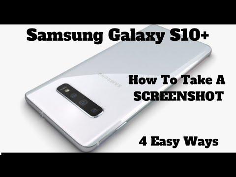 Samsung galaxy s10 plus screenshot machen