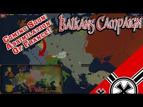 Смотреть Assimilation Of The Balkans! Germany WWII Age Of Civilization II онлайн