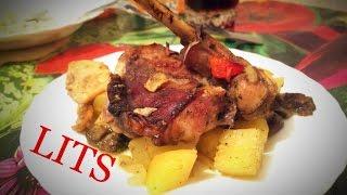 Кролик с картошкой и лесными грибами!)) LITS