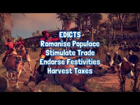 Total War Rome II - Rezzed Info 2013 - Edicts + Internal Politics