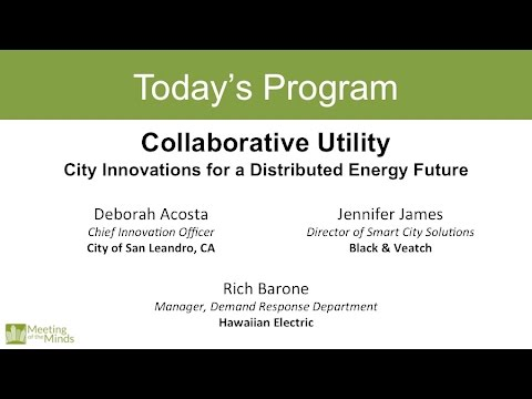 Collaborative Utility: City Innovations for a Distributed Energy Future