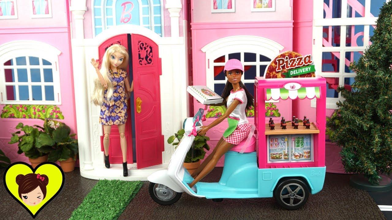 Barbie Chef Cocina Y Entrega Pizzas En Su Moto Frozen Casa De