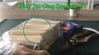 hướng dẫn làm sản phẩm handmade bằng que kem hộp bút cực đẹp tặng vợ