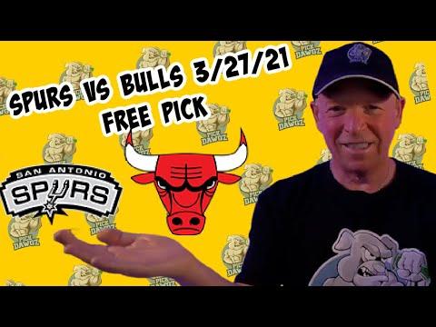 San Antonio Spurs vs Chicago Bulls 3/27/21 Free NBA Pick and Prediction NBA Betting Tips