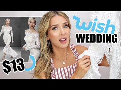 TRYING ON 5 WISH WEDDING DRESSES UNDER $20