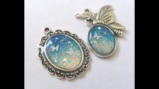 UV Resin Blue Opal Gemstone Pendant Tutorial