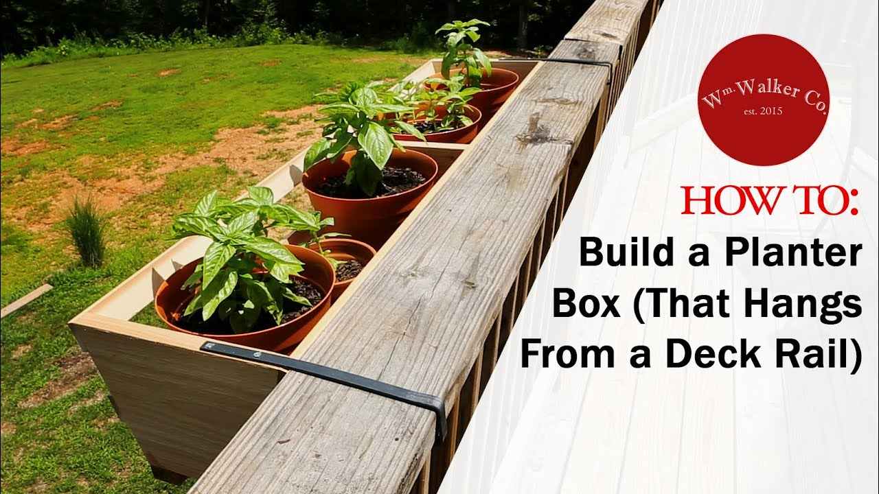 How to build a planter box to hang from a deck rail - Planters to hang on railing ...